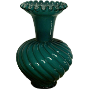 Fenton Jamestown Blue Overlay Vase