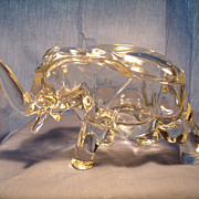 Glass Elephant Box with Lid