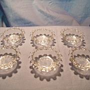 Mint Set of Candlewick Salts