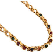 Multicolored Rhinestone Necklace by Napier