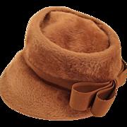 Furred Felt Ladies Hat, c. 1945 - 1950