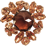 Topaz Colored Regency Brooch