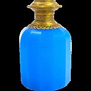 Palais Royal Blue Opaline Glass Faceted Perfume Bottle