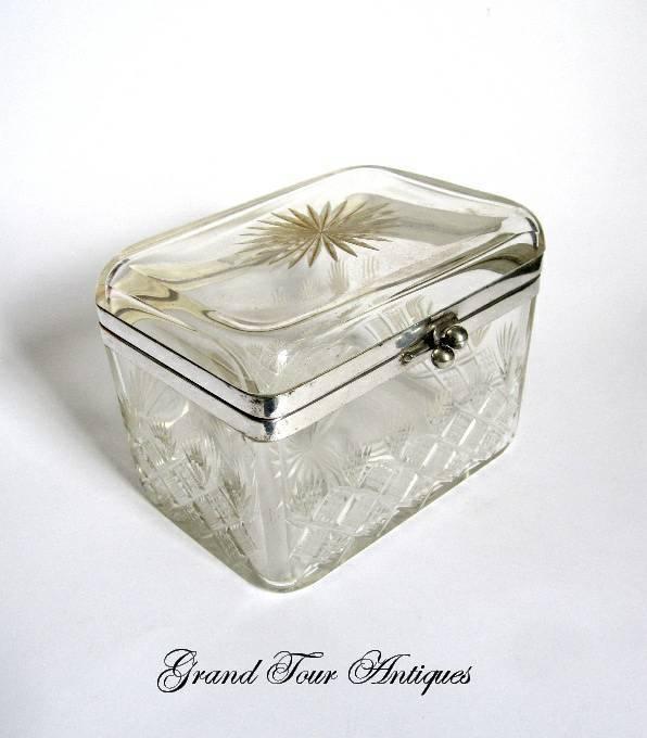 WMF Cut Crystal Casket Circa 1900's