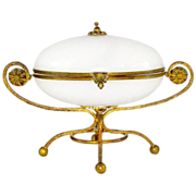 Large French Opaline Casket With Dore Bronze Mounts