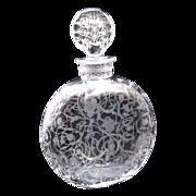 Antique Baccarat Michelangelo Crystal Signed Engraved Scent Bottle