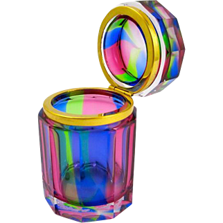 Pretty Murano 'Rainbow' Casket Box.