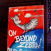On Beyond Zebra! Dr Seuss 1st printing in Dust Jacket 1955
