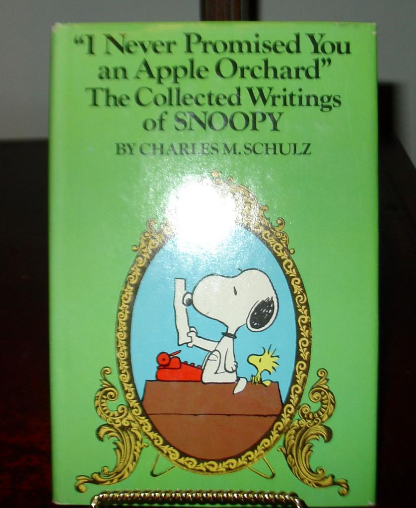 I Never Promised You an Apple Orchard signed by Charles Schulz