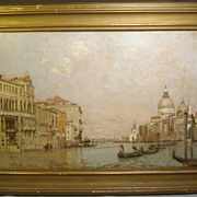 William Graham (American 1832-1911) Original Oil on Canvas Venetian Scene 1895.. Listed American Artist