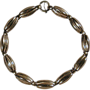 Napier Modernist Sterling Silver & Vermeil Melon Link Necklace
