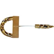 Vintage Art Deco Celluloid Jabot - Hat Pin w/ Swirl