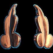1950s Modernist RENOIR Copper Earrings