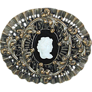A-Little-Something-Different Old Cameo Pin