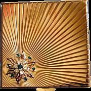 Jeweled VOLUPTE Rhinestone Mirrored Compact Case