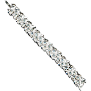 Vintage Crown Trifari Crystal Rhinestone Bracelet