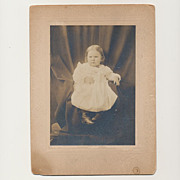 Antique Victorian Photograph Serious Stern Little Baby Girl Photo