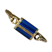 Vintage Mexican Sterling Silver Inlaid Lapis Bracelet
