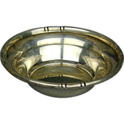 Modernist B & M Baldwin & Miller Sterling Silver Bowl - Bamboo