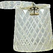 Vintage Clear Lucite Pineapple Cut FLORIDA Handbag Miami