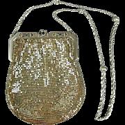 Vintage Whiting & Davis Silver Tone Mesh Handbag Purse