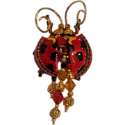 Lunch at the Ritz retired cute as bugs ladybug pin