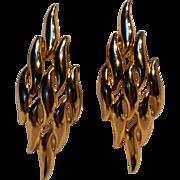 Napier 1970's School of fish earrings tension screw clips