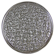 """Towle Contessina Silver Plated Floral Repousse Trivet 8"""" Footed Tray"""