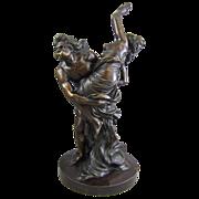 Antique French Bronze Sculpture Boreas and Orithyia after Simon-Louis Boizot