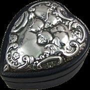 Keyford Frames Ltd Sterling Silver Heart Box with Reynold's Angels