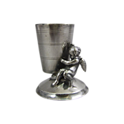Rockford Silver Plated Toothpick Holder Cherub Cupid