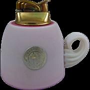Gundersen Pairpoint Burmese Glass Table Lighter