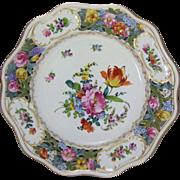 "Carl Thieme Reticulated Dresden Porcelain 10"" Cabinet Plate"