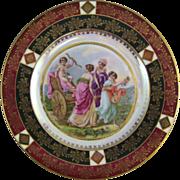 Czechoslovakia Porcelain Cabinet Plate with Allegorical Scene