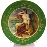 Royal Vienna Porcelain Cabinet Plate Artist Signed