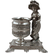 Kate Greenaway Silverplate Toothpick or Match Holder by James Tufts Circa 1880