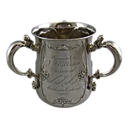 Gorham Sterling Silver Loving Cup with Names of Cincinnati's Most Notable Citizens Circa 1903 Chamber of Commerce and Merchant Exchange