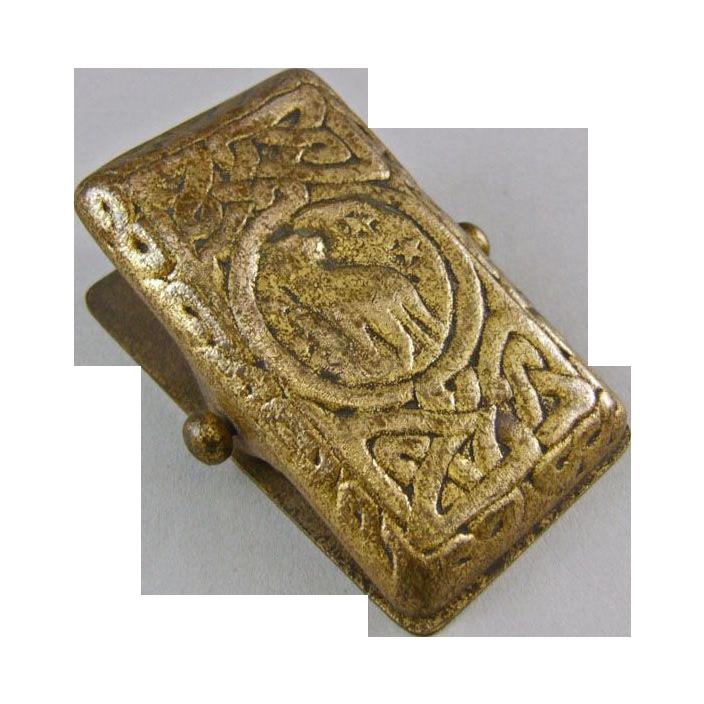 Tiffany Studios New York Gold Dore Bronze Letter Clip 1080
