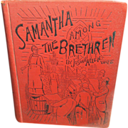 Wonderful Old Book 'Samantha Among The Brethren' by Josiah Allen's Wife - 1890 - Funk & Wagnall's