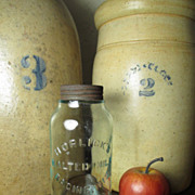 Beautiful Old HORLICK'S Malted Milk Embossed Glass Jar - Advertising