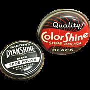 Two Old Shoe Polish Advertising Tins