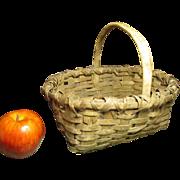 Granny's Charming Small Splint Farmhouse Gathering Basket