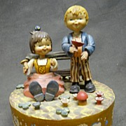 """Vintage Anri Italy Rotating Music Box - """"We've Only Just Begun"""""""