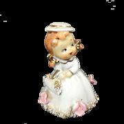 Vintage Charming Ceramic Girl Bell
