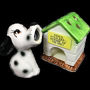 Ceramic Dog Pencil Sharpener & Pencil Holder Doghouse