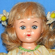 1950's All Original Hard Plastic Virga Doll Walker  - NICE!