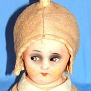 1920's - 1930's Era Figural Composition Art Deco Doll Hat Stand