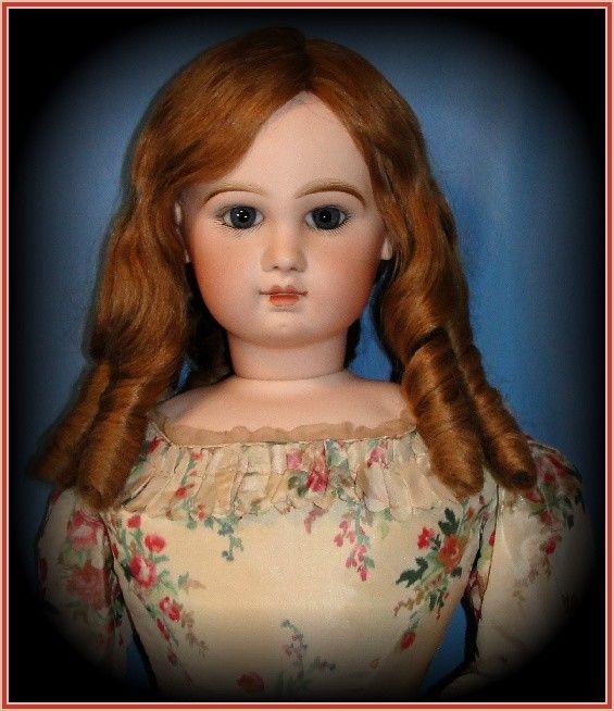 "34"" Monumental Closed Mouth Antique Tete Jumeau Fashion Poupee Doll - Breathtaking Child's Face!"