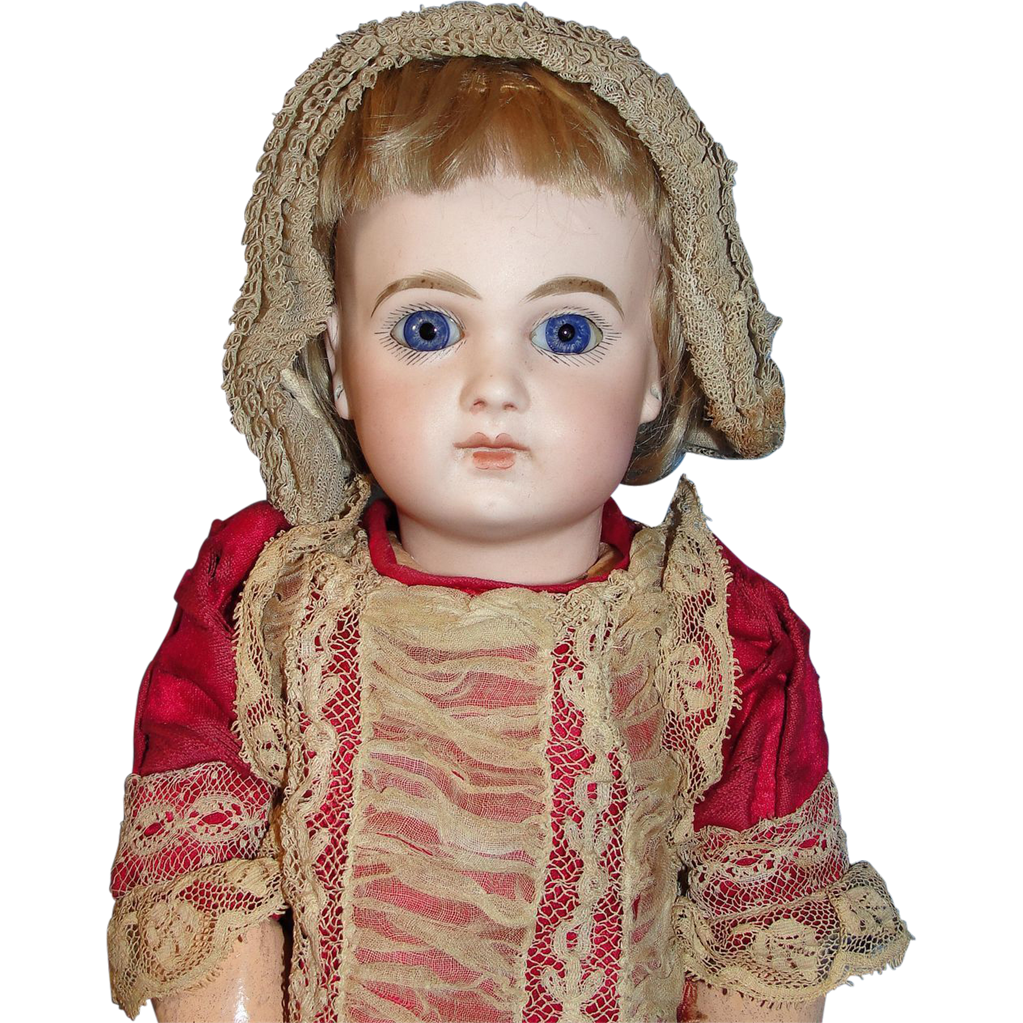 """On hold for P: Exquisite Depose Jumeau Bébé 5 - Petite Early French Bisque Doll - 14 1/2"""" Cabinet size -  named Isabel!"""