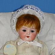 Antique Heubach*Koppelsdorf 320 Bisque Character Baby with Cradle
